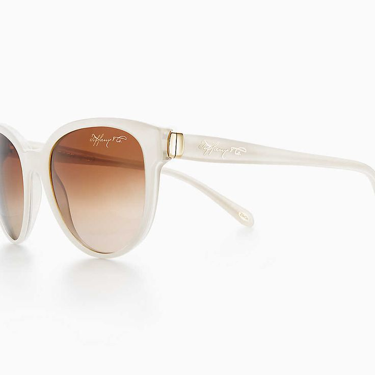 Tiffany 1837® phantos sunglasses in pearl ivory acetate.
