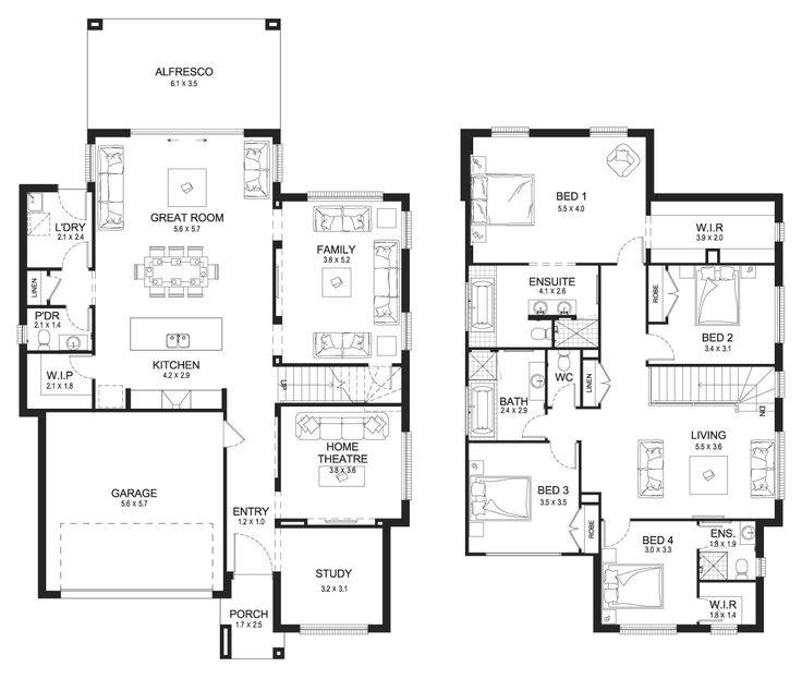 Best 25 Double Storey House Plans Ideas On Pinterest