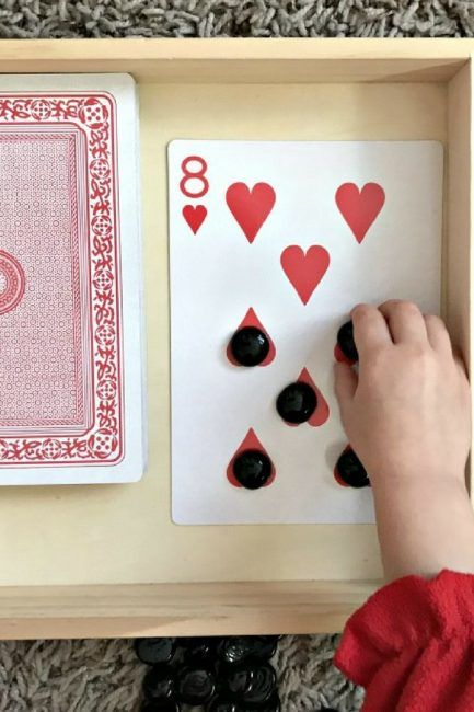 A deck of cards and some gems or counters are all you need for this super simple and fun card counting activity.