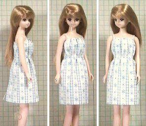 速乾接着剤タックドレス 「パプペポ」着せ替え人形の手作り服の作り方