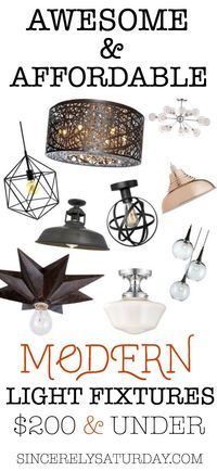 Light fixtures - Modern, Awesome & Affordable