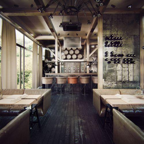 beautiful bar and dining area