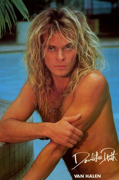 "Come in, the water's fine... An classic poster of Van Halen front-man David Lee Roth! Published in 1983. Fully licensed. Ships fast. 23x35 inches. ""Jump"" on over and check out the rest of our selectio"