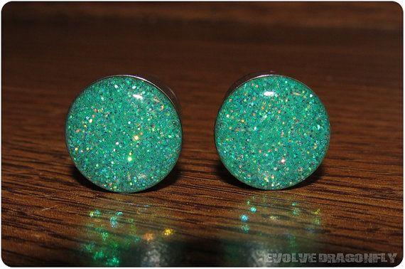 Bouchons de gros Seafoam Glitter  28mm 32mm par EvolveDragonfly