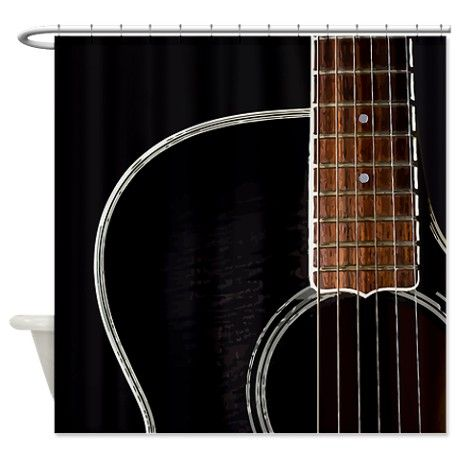 Guitar Shower Curtain Room Of Bath Pinterest Bathroom Curtains And