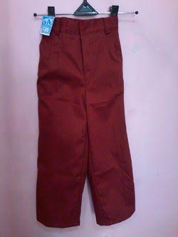 Seragam Sekolah: Celana Panjang Merah Seragam Sekolah