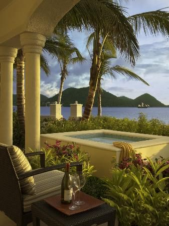 En suite private dipping pool at The Landings St. Lucia