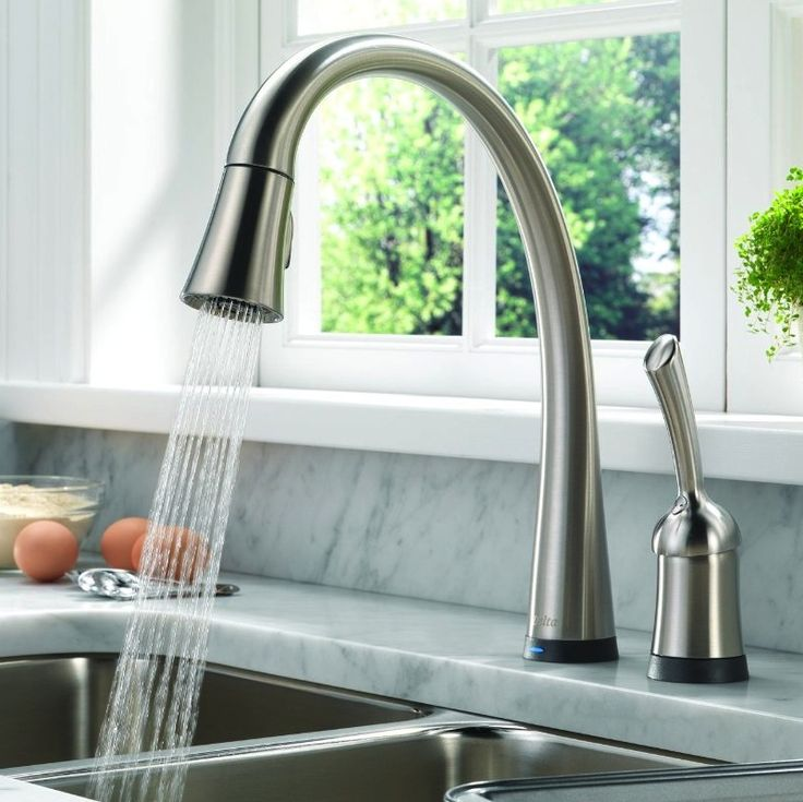 delta pilar is an easy to operate touch faucet that does away with the often hard to operate turn knobs making this an ideal faucet for everyone
