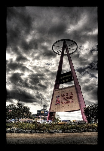 excited that pitchers and catchers report today AND that I get to go home in a week!  Anaheim Angels (The Big A) by Tattered Photography, via Flickr