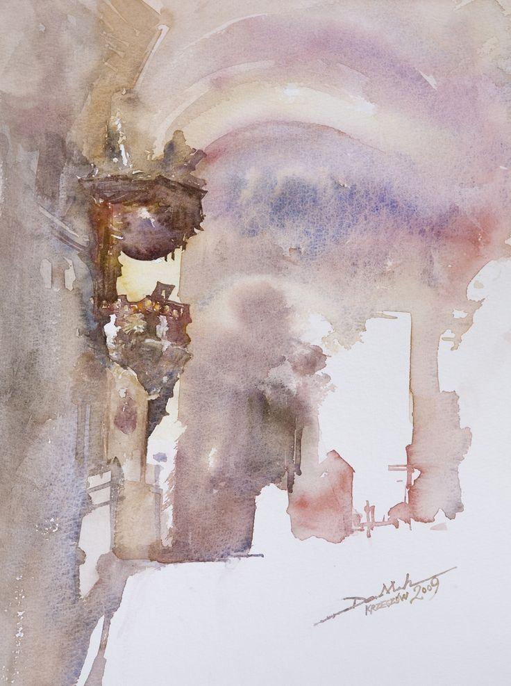 Ambona, 40x30cm, 2009 www.minhdam.com #architecture #watercolor #watercolour #art #artist #painting #poland