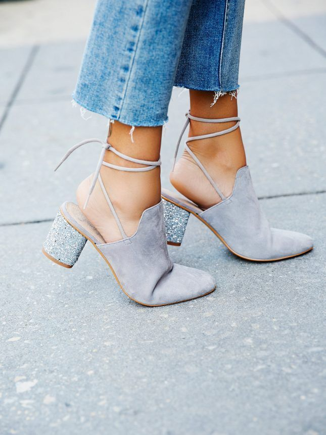 "Free People Sparkler Wrap Mule - Loved these until I read ""mule""...that glitter heel could be a game changer, though"