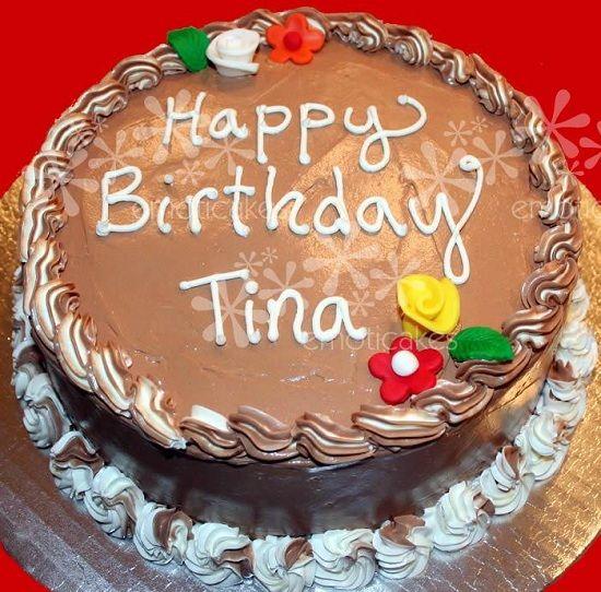 Happy Birthday Cake With Name Tina