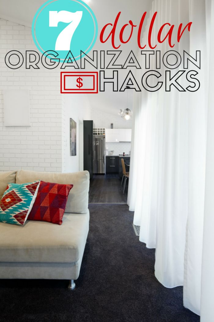 Get organized for spring with these seven organization hacks that cost a dollar (or less!).