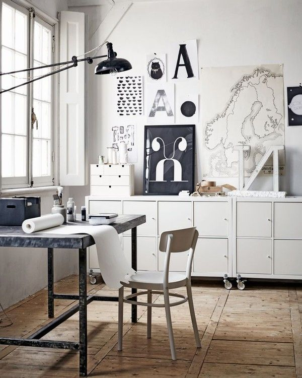 Creative White workspace