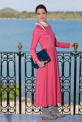 Kuaybe Gider - Kadın Tekstil - Gül Kurusu Elbise 2030.40 %33 indirimle 159,99TL ile Trendyol da