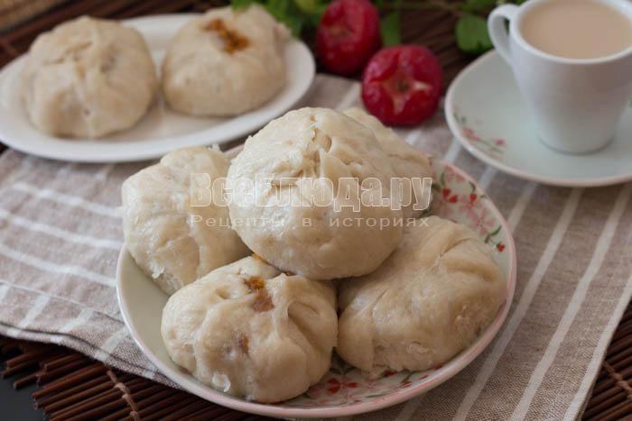 Паровые булочки с вареной сгущенкой