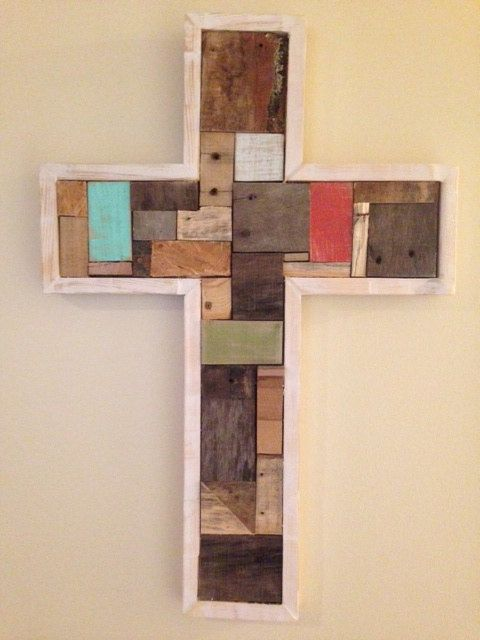 Multi Color Cross from Pallets Made to order by PalletLife ...