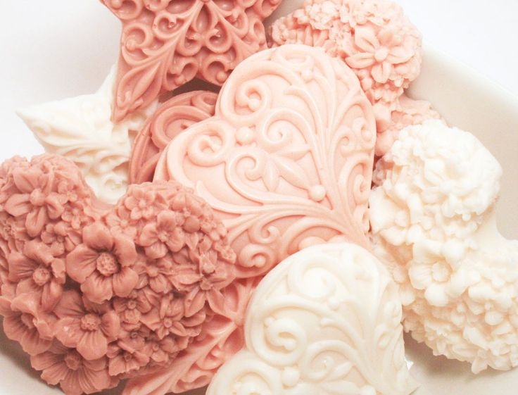 set of vanilla heart shaped soaps  **different scent - I don't care for vanilla unless it's in baked goods. lol