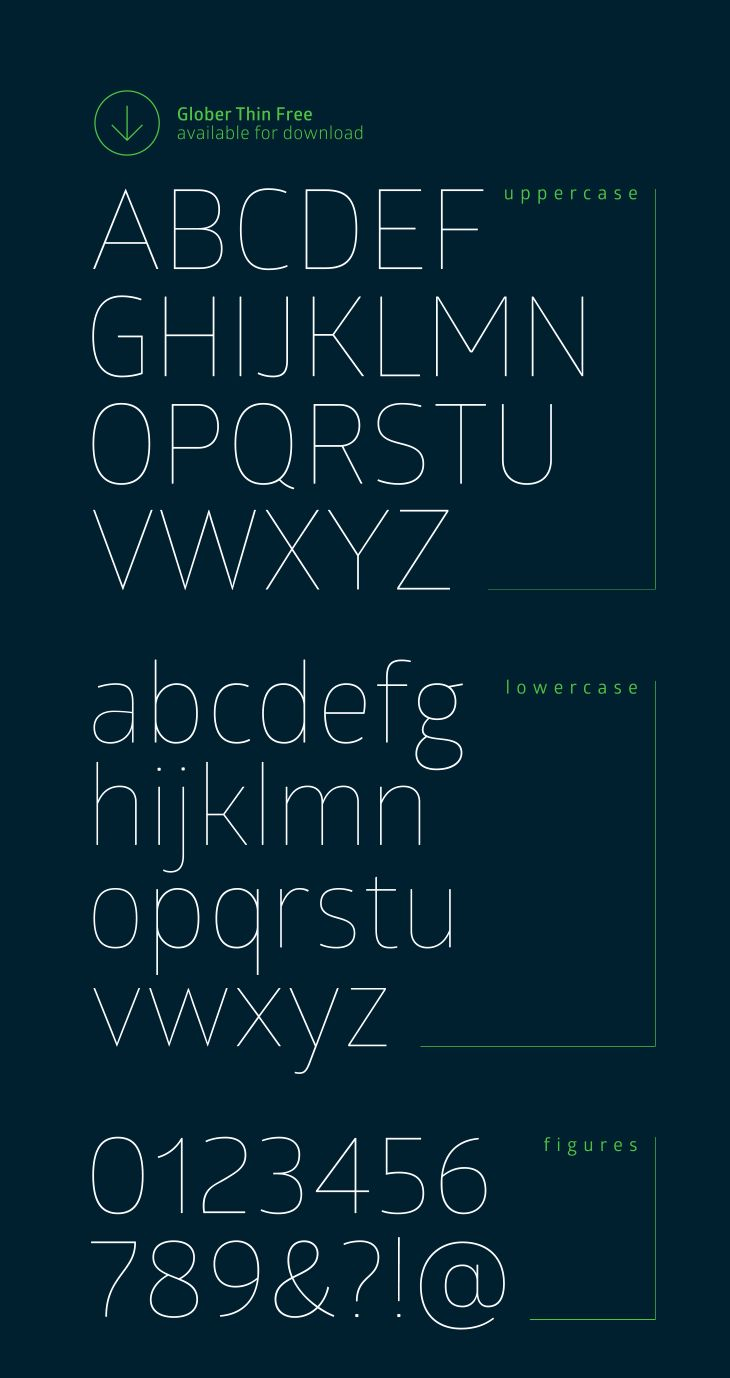 glober free font 02 - Free Resume Fonts