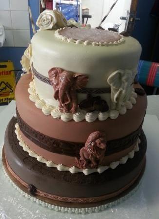 African Themed wedding cake 1