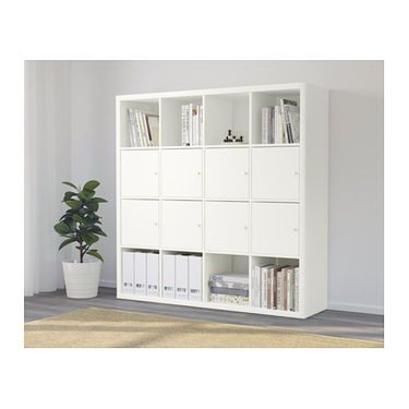 IKEA KALLAX shelving unit with 8 inserts