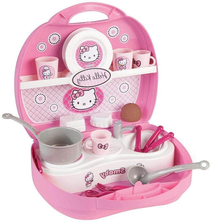 Smoby Smoby, Мини-кухня в чемоданчике, Hello Kitty