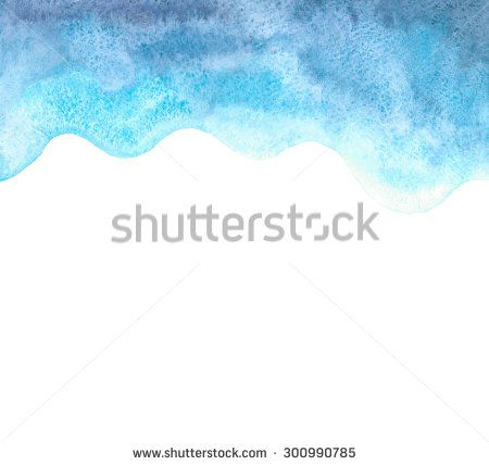 wave waterolor background - stock photo