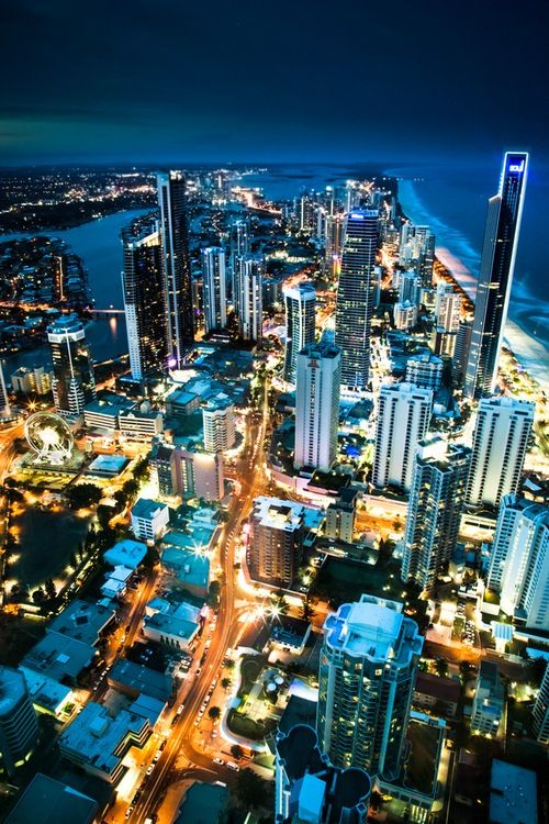 Surfers Paradise with Soul in the background