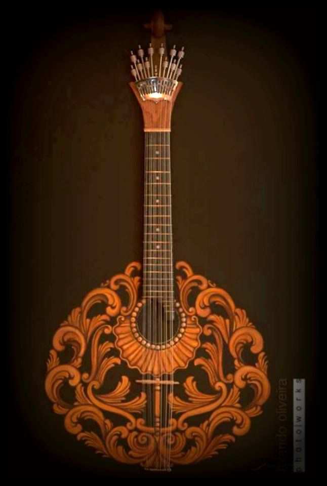 Portuguese Guitar Guitarra portuguesa made by Marco Carvalho ,arte art painting pintura orders on marcoartlife@gmail.com