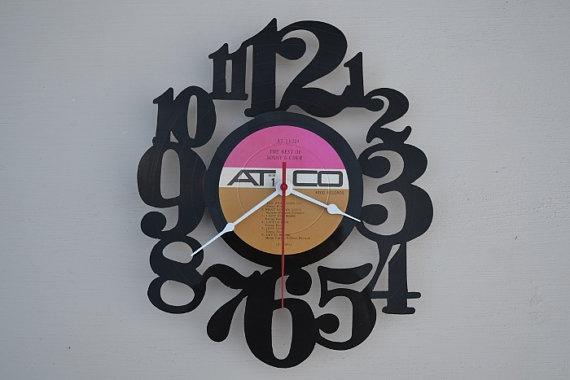 Handcrafted vinyl record clock artist is Sonny by vinylclockwork, $23.00