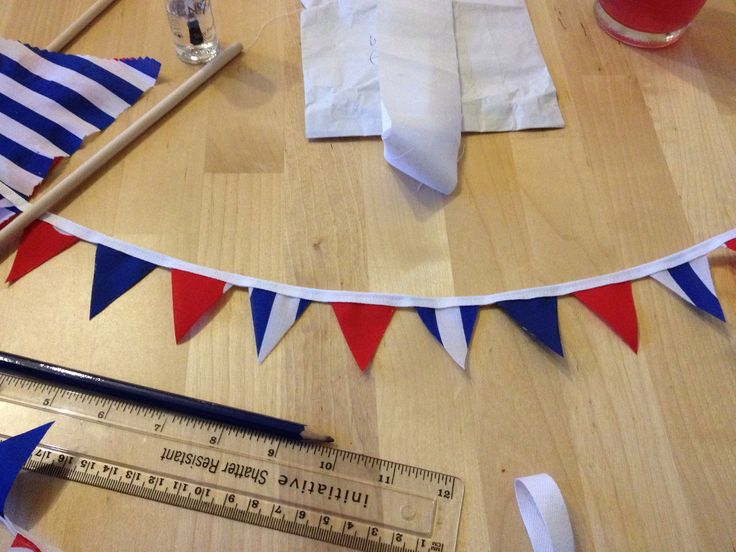 Mini bunting to go on a wedding cake. Only 1x1.5 inches, but so cute!!