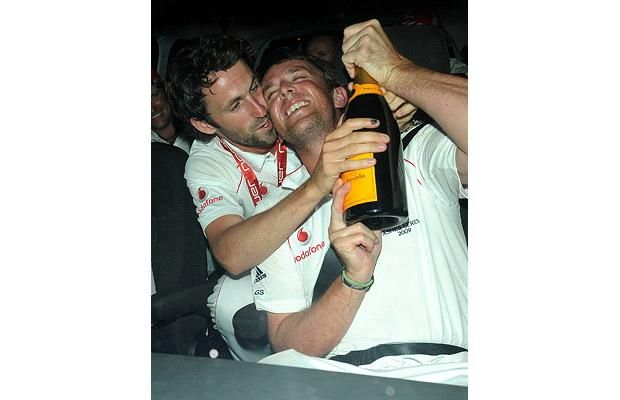 England Cricket Players partying
