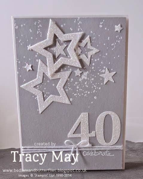A 40th Birthday card & gift box using Stampin' Up! products