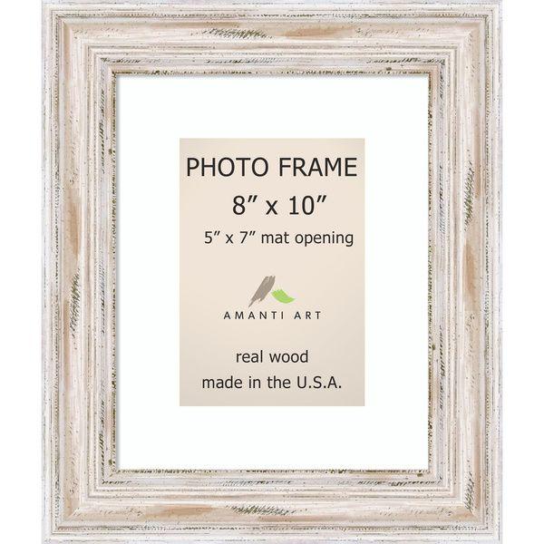alexandria whitewash photo frame 8x10 matted to 5x7u0027 11 x 13inch