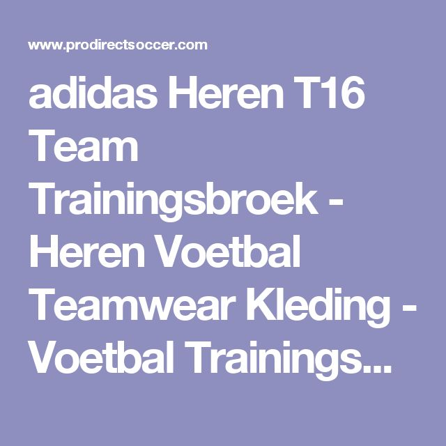 adidas Heren T16 Team Trainingsbroek - Heren Voetbal Teamwear Kleding - Voetbal Trainingsbroeken - Rood/Wit