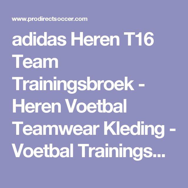 adidas Heren T16 Team Trainingsbroek - Heren Voetbal Teamwear Kleding - Voetbal Trainingsbroeken - Rood/Wit
