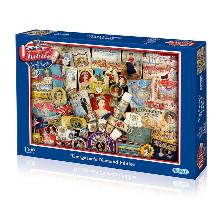 Diamond Jubilee 1000 Piece Puzzle. Queen Elizabeth II. Gibson Games.