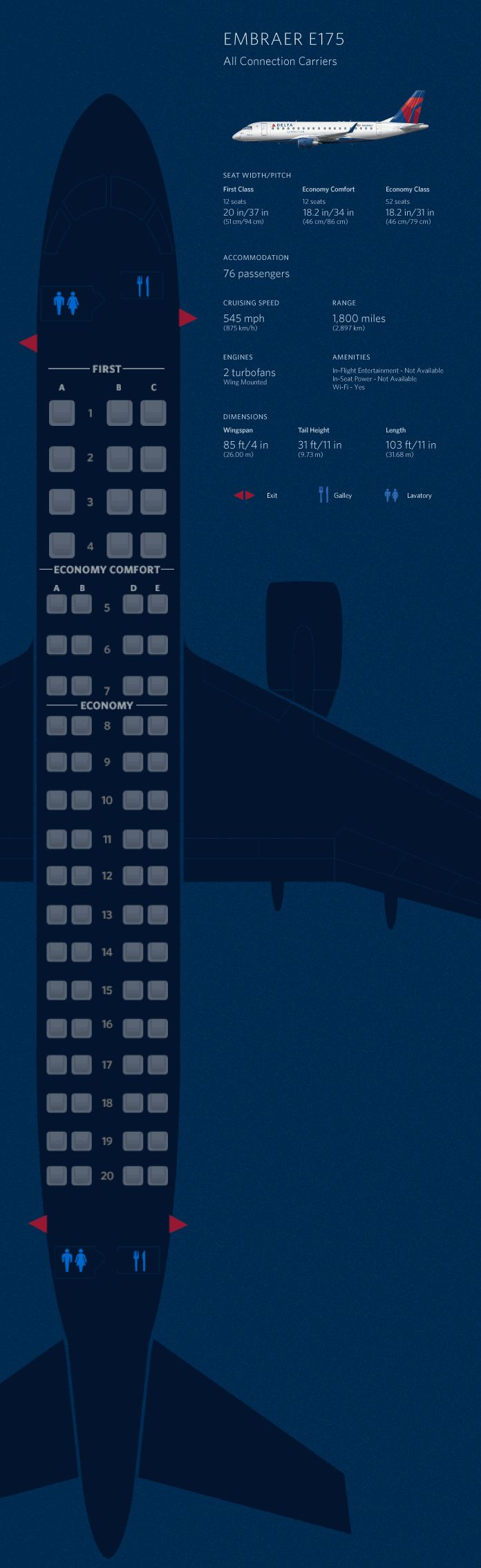 seat maps for Delta airplanes