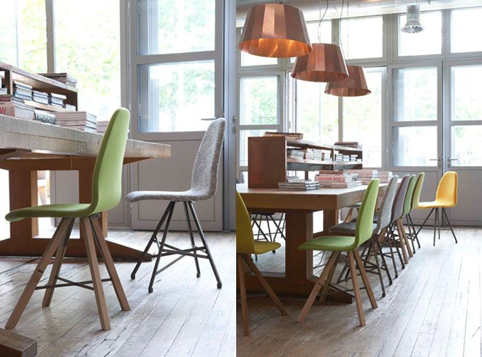 love the colourful chairs. found via Bloesem blog