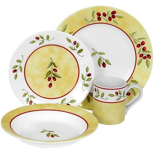 Corelle Ultra 16-Piece Dinnerware Set Service for 4 Radiance   sc 1 st  Pinterest & 21 best Vajillas images on Pinterest | Dish sets Dishes and Dining sets