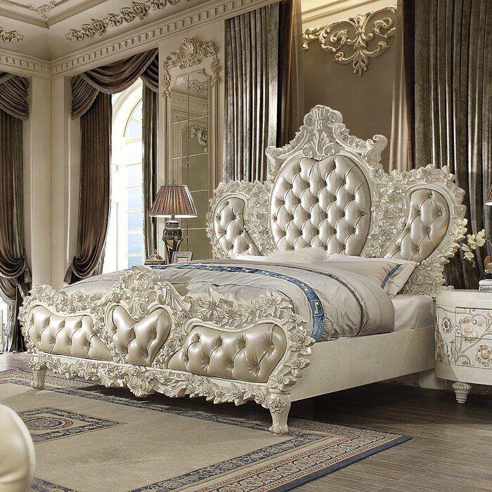 Morrigan Luxurious Traditional Upholstered Standard Bed In 2020 Luxury Bedroom Sets Luxurious Bedrooms King Bedroom Sets