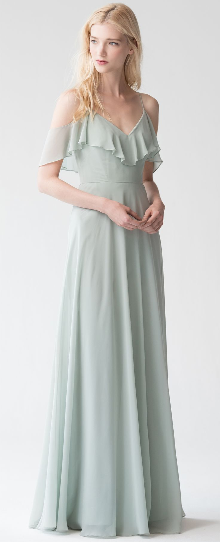 47 best 2017 bridesmaid collection images on pinterest mila flowy bridesmaid dress in morning mist luxe chiffon by jenny yoo pastels ombrellifo Choice Image