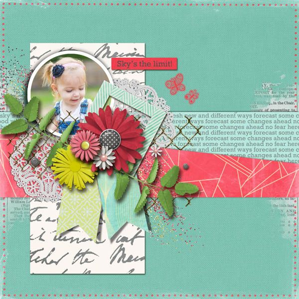 Sky's The Limit - Tucked In V 1 | Page Drafts by The Nifty Pixel Fresh Start by The Nifty Pixel Happy Home Elements by The Nifty Pixel {white flower & newsprint stamp}