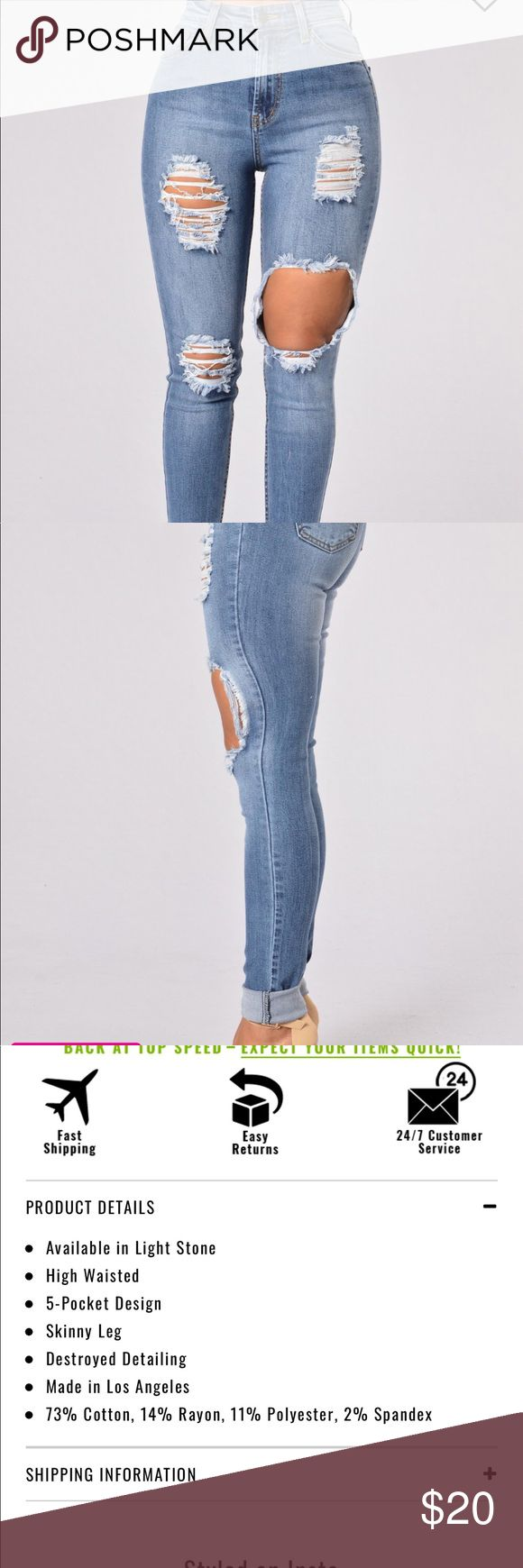 NEW Fashion Nova Plus Size Jeans Brand new never worn. 2X is 18 on the website. True to size or smaller can fit Fashion Nova Jeans Skinny