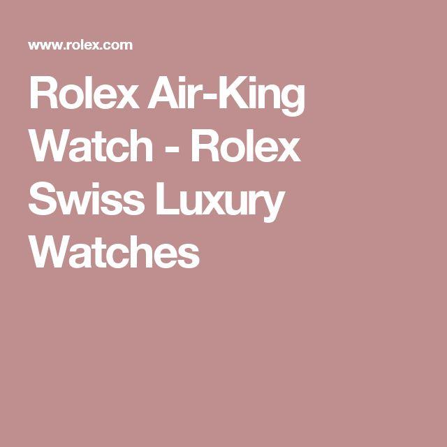 Rolex Air-King Watch - Rolex Swiss Luxury Watches
