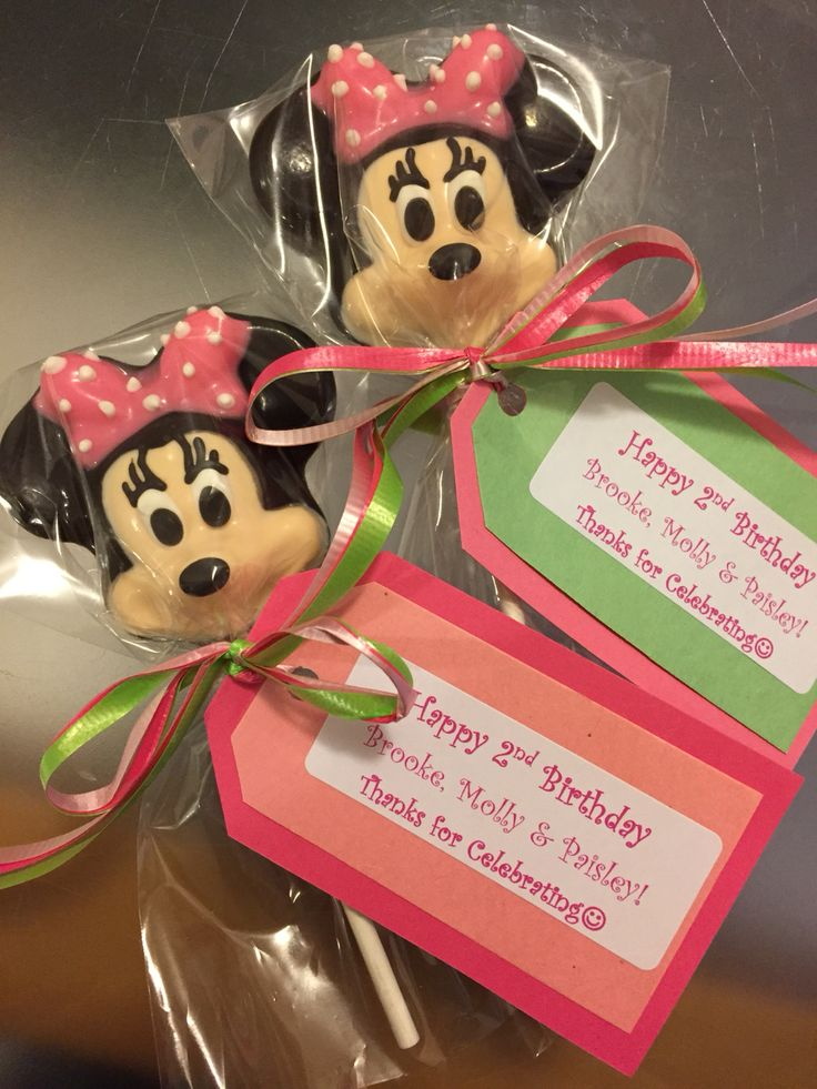 Minnie Mouse for some very special 2 year olds!! Via EMILY's LOLLIPOP SHOP