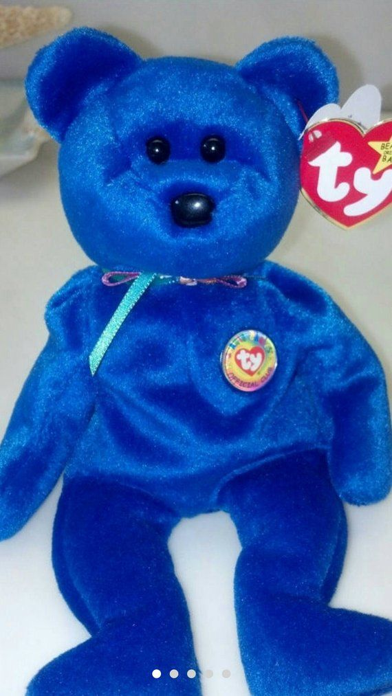 897b8d63399 Clubby Blue Bear First Official Club Bear Ty Beanie Baby   Retired Rare  Collectible Birthday Party G