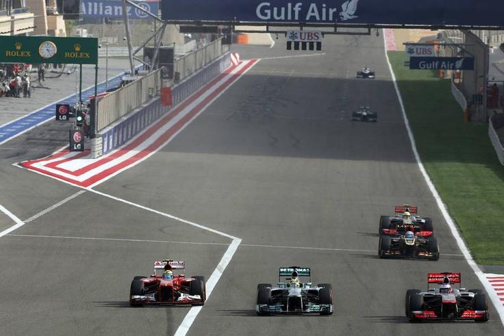 Massa, Rosberg e Button  GP Bahrain 2013
