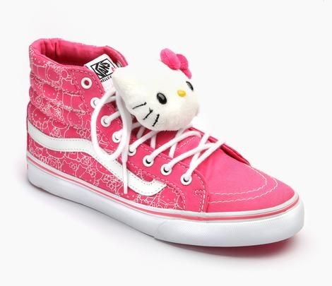 VANS x Hello Kitty Adult Women s Sk8-Hi Slim  Pink f3e8aa3fb8c
