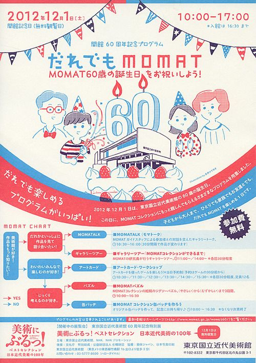 Japanese Event Flyer: Everyones MOMAT. OOOKA Hironori Office. 2012